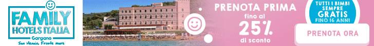 bimbi gratis family hotel sole gargano